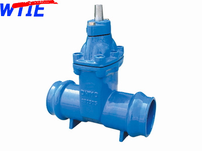 Resilient seated gate valve with socket for PVC Pipe