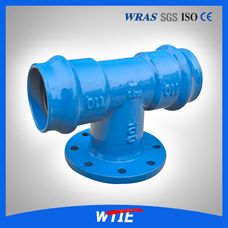 Double Socket Tee with Flange Branch For PVC Pipe