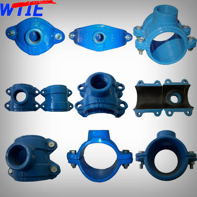 Saddle clamp for PVC/PE/DIP/GSP